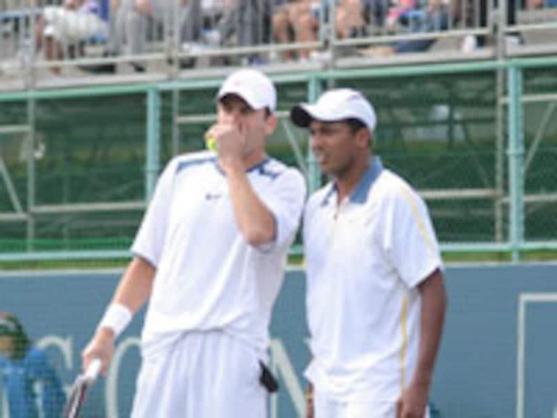 AIG OPEN男子ダブルス 画像提供:tennis365.net