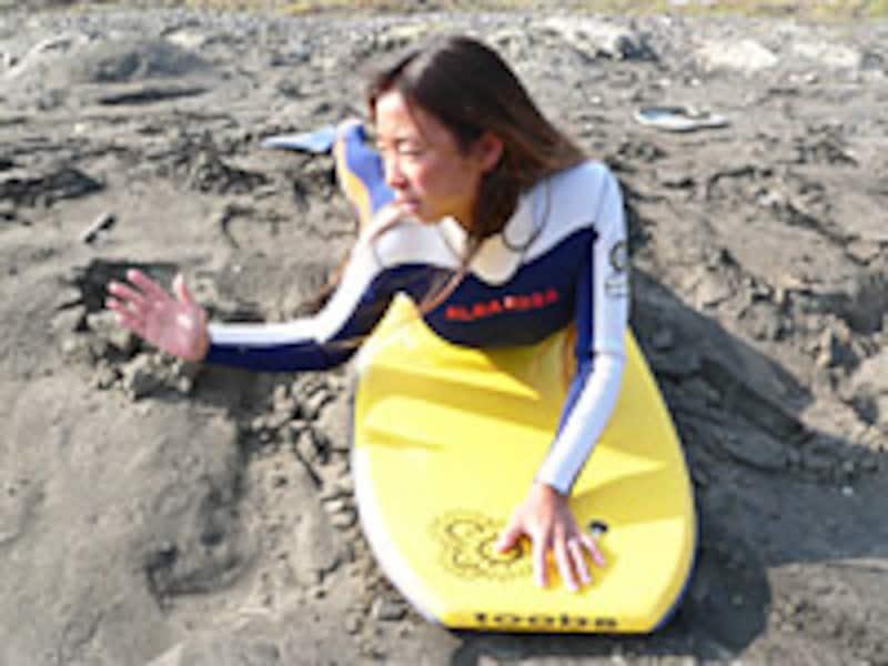 掘れてる波