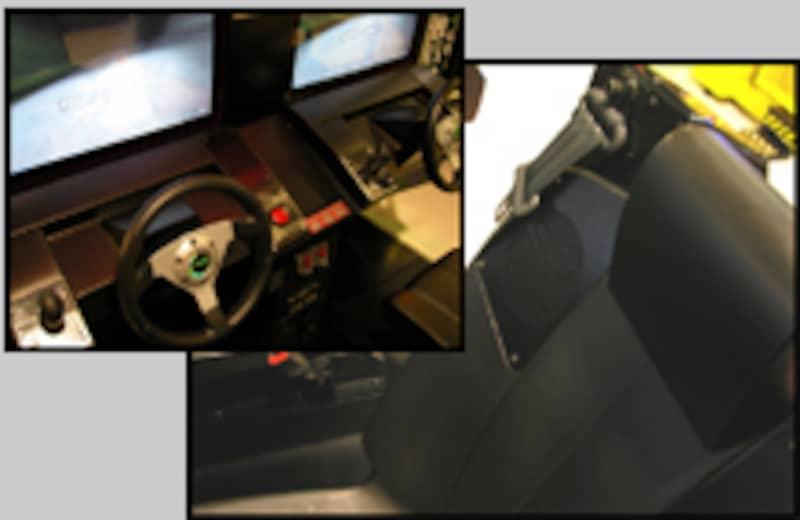 ゲーム画面とシートベルトシステム