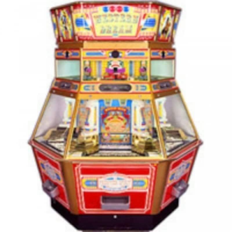「ウエスタンドリーム」のゲーム本体。上部ケース内を列車がメダルを乗せて走る(C)SEGA