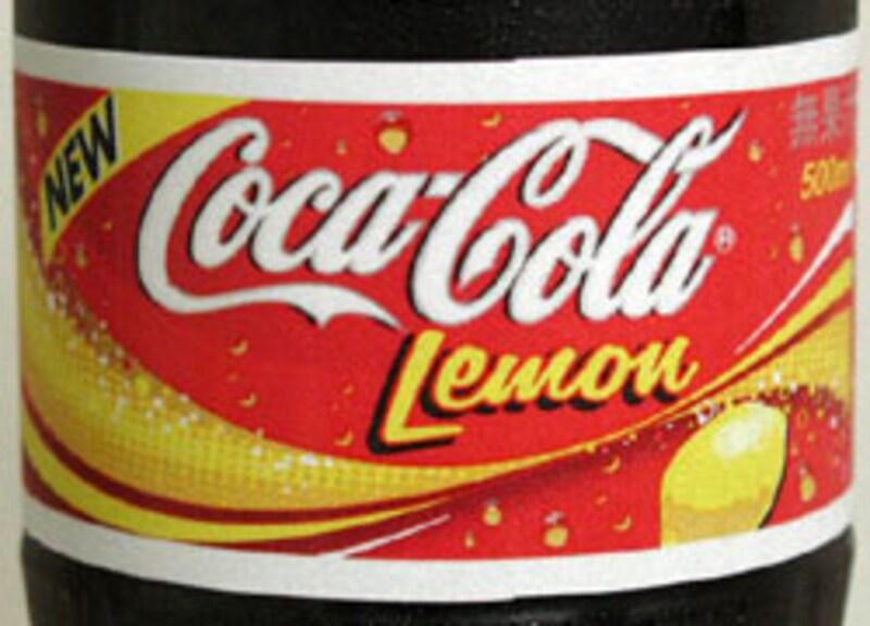 コカ・コーラレモンのラベル