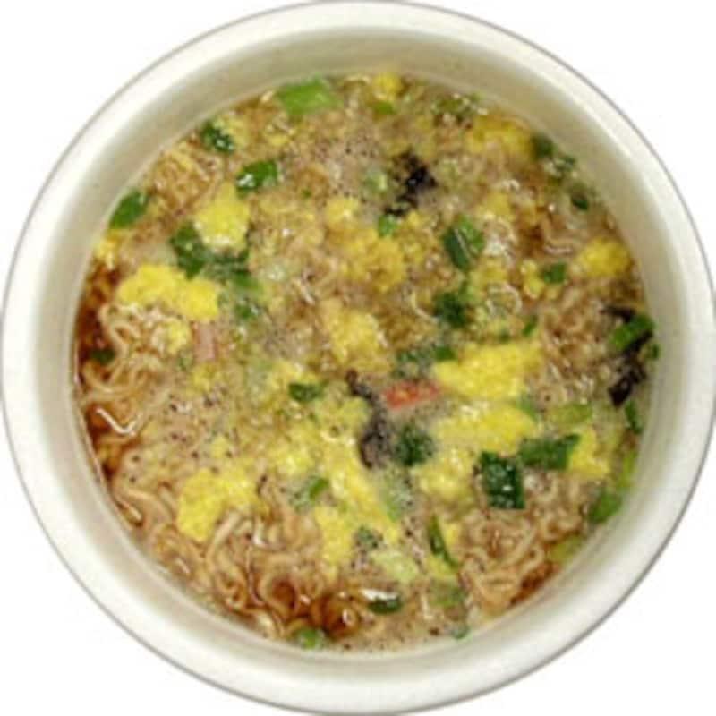 日清食品 チキンラーメンどんぶり 広東風とき玉麺 でき上がり