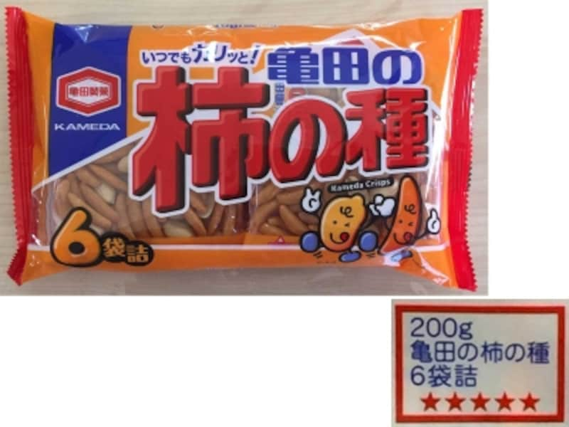亀田製菓星マークまたはブルーリボンマーク