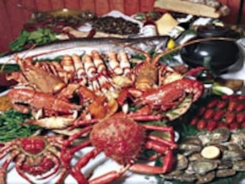 ビゴの町では魚介の盛り合わせを楽しみたい