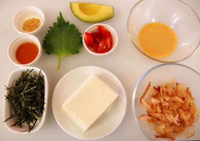 お料理の材料の写真