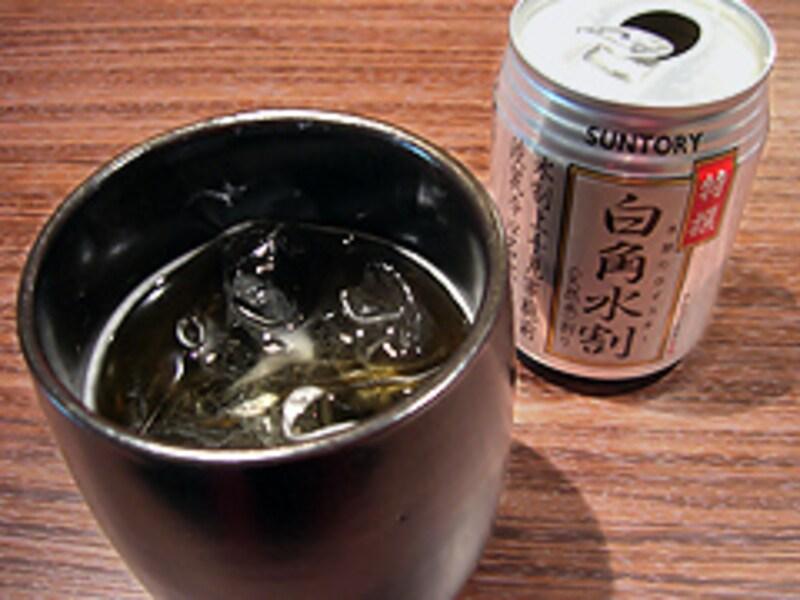 淡麗辛口の白角缶