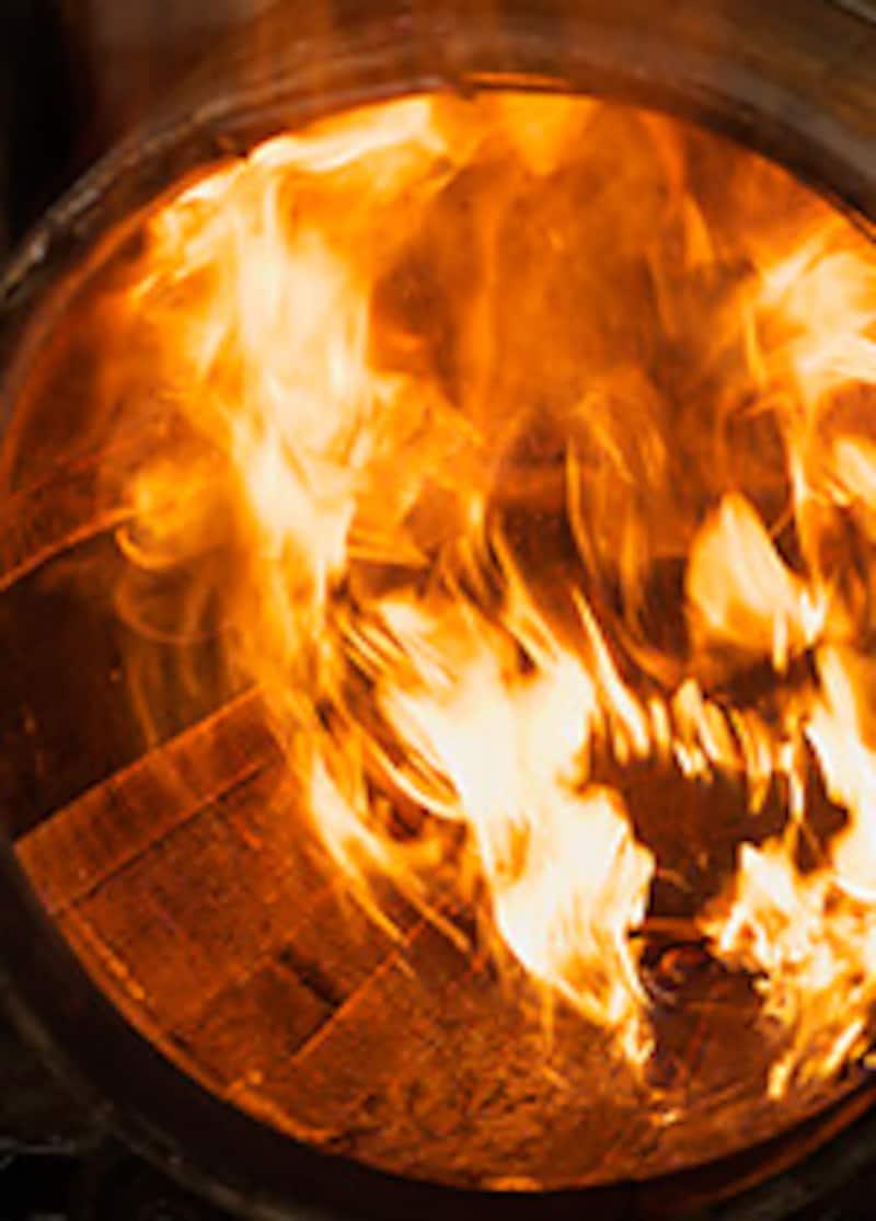 リチャー中の炎。かなり燃え上がる