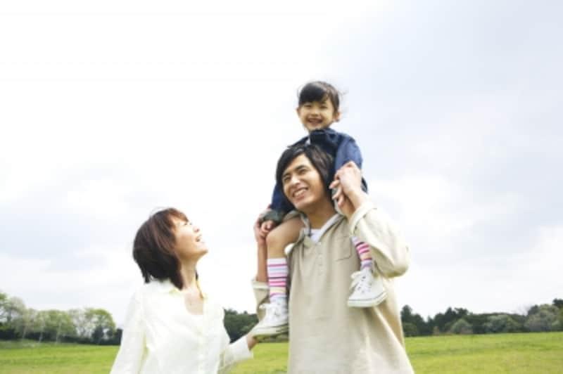 休暇を楽しむ家族