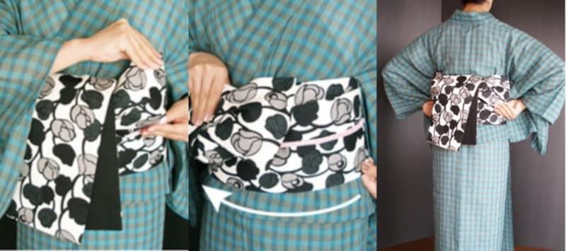 みやこ結び・リボン結び 浴衣の帯の結び方