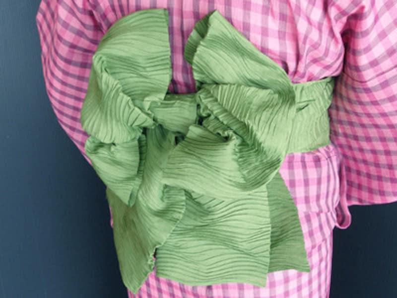 兵児帯の結び方ー蝶々結びアレンジ 子どもの浴衣帯