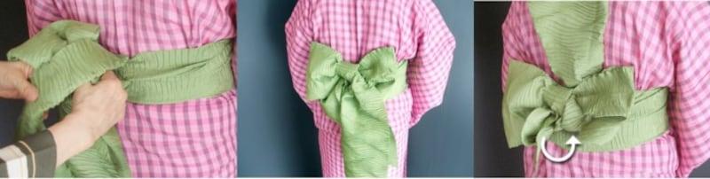 兵児帯の結び方 アレンジ 子どもも大人も 浴衣帯の結び方