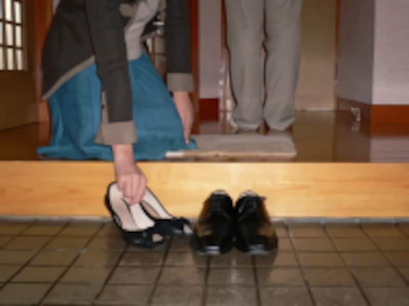 カップルの場合/靴やブーツの脱ぎ方・置き方