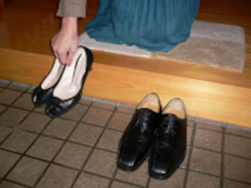 靴の履き方/靴やブーツの脱ぎ方・置き方
