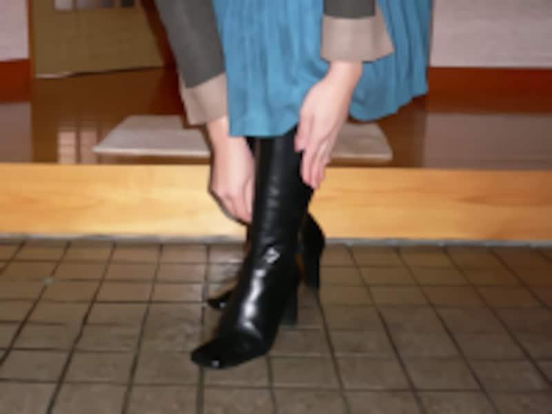 ブーツの履き方/靴やブーツの脱ぎ方・置き方