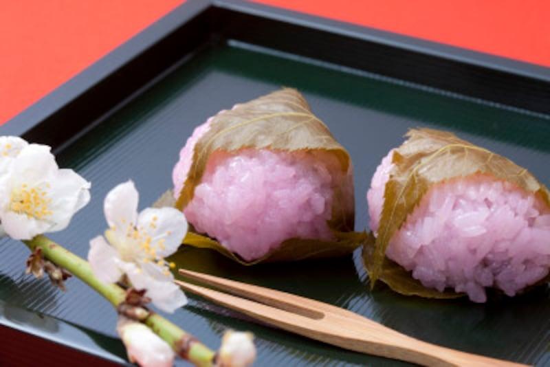 桜餅 関西風=道明寺