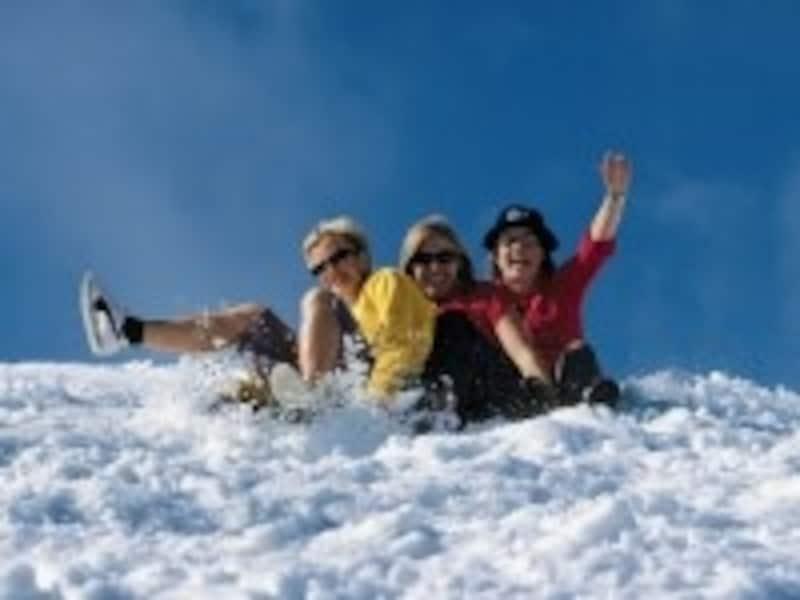 3月になると、スキー場でも春の訪れを感じさせてくれる
