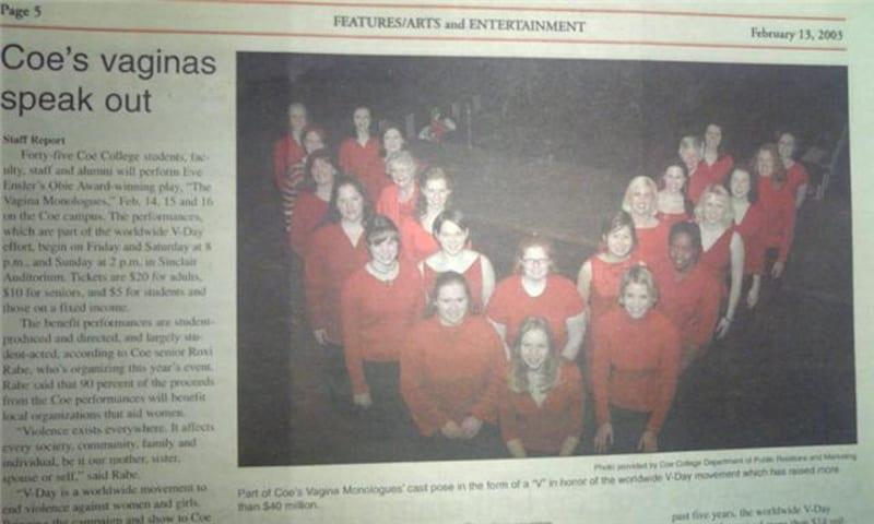ガイド西郷が出演した、大学内のヴァギナ・モノローグスのキャンペーン公演