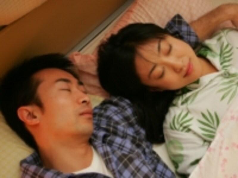セックスの後は、よく眠れる。
