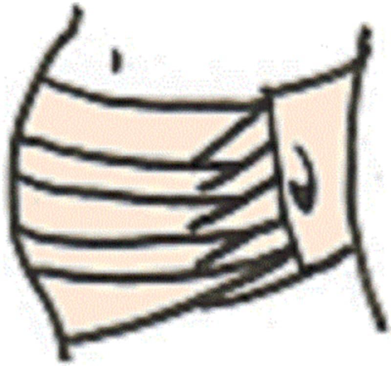 さらしタイプの腹帯は、きっちり巻かれていて心地よいが、きつくてリラックスできないと感じることも