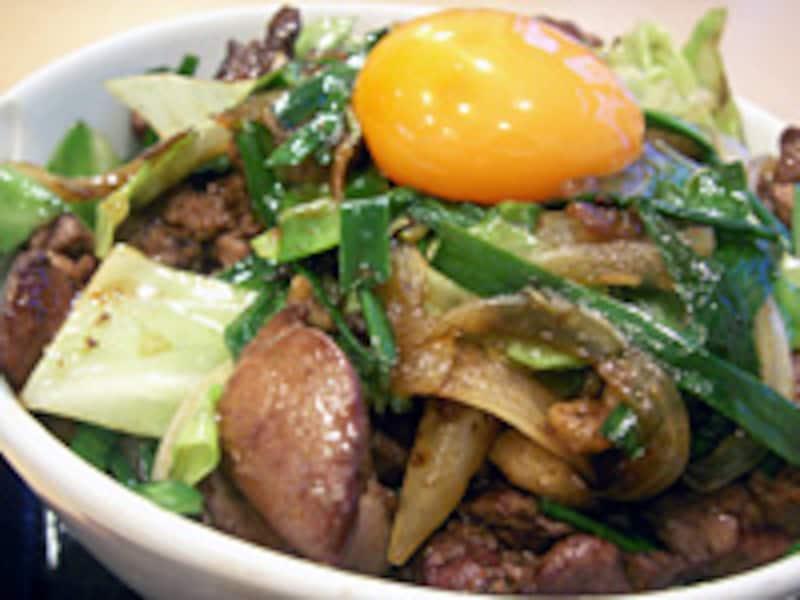 レバ野菜丼