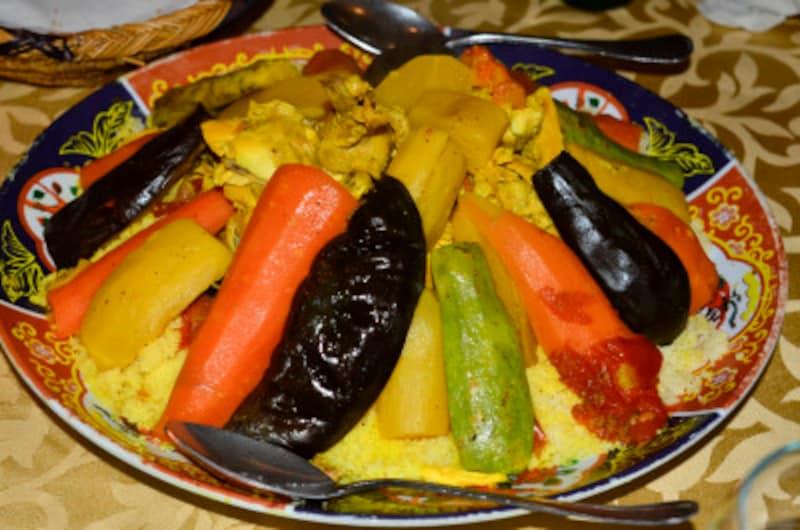 モロッコのクスクス料理。