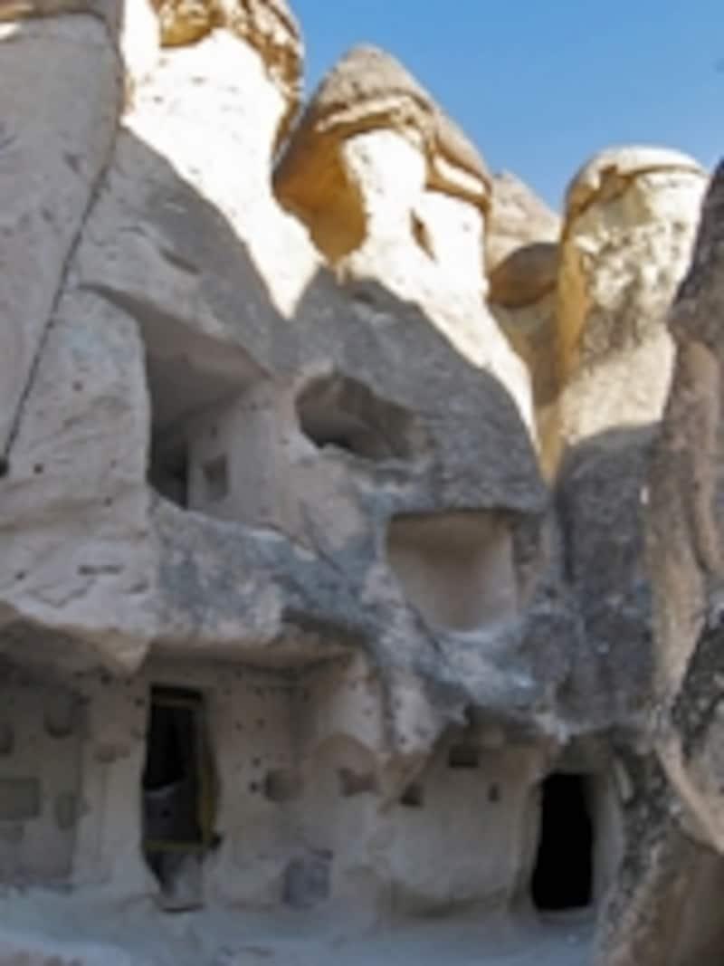 ギョレメの岩の内部。ここに修道士たちが隠れ住んでいた