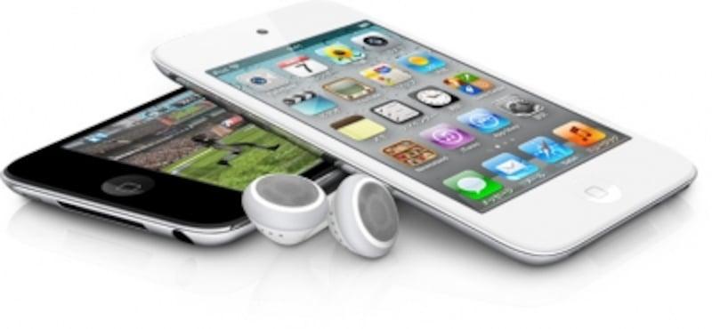 2011年10月に発売された「iPodtouch」の新色ホワイトモデル。2011年はiPodnano、iPodShuffle、iPodClassicの新モデル発表はなかった