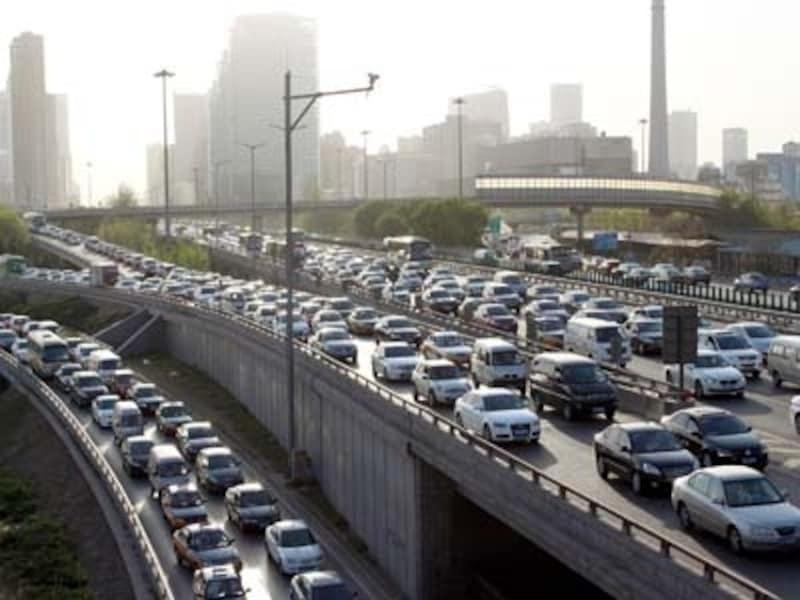 北京の交通事情「渋滞」