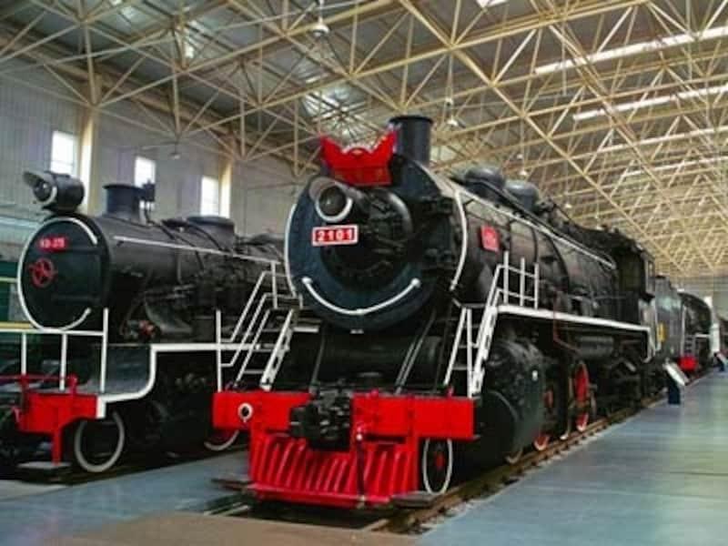 中国鉄道博物館内部