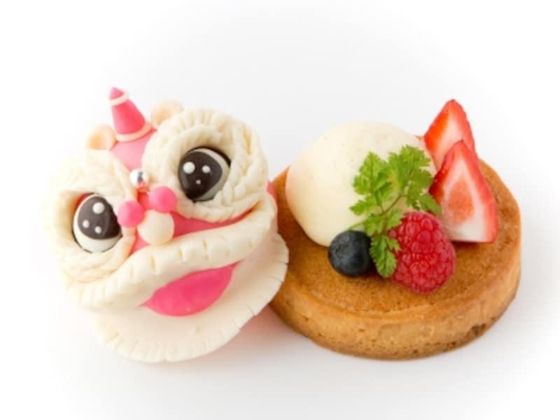 中国の獅子舞をモチーフにしたスイーツで春節をお祝いしましょう!undefinedローズホテル横浜「春節タルト(860円税込)」