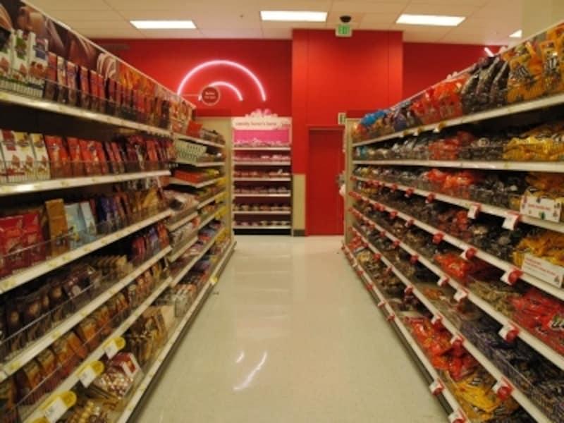 この列全部がチョコレートの棚。迷っちゃいますね?