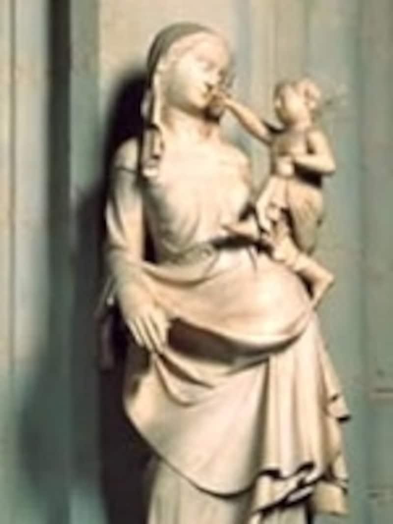 神戸にレプリカが贈られた聖母子像