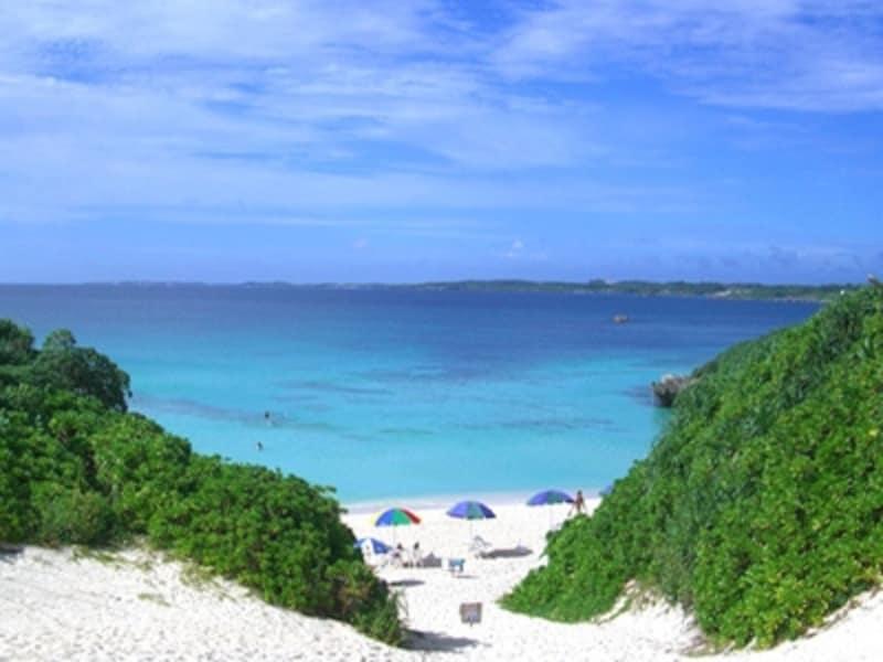 中心地からも近く宮古の海を楽しむビーチなら砂山ビーチ