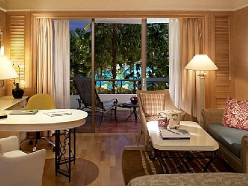 デラックス・プールビューのお部屋からの眺めは最高です