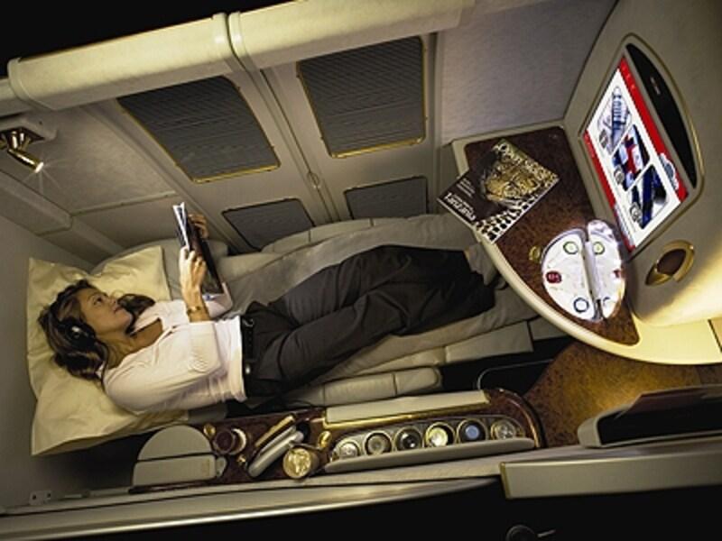 プライバシーを重視したファーストクラスシート CopyrightOfEmiratesAirlines