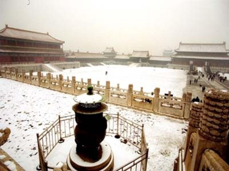 北京の冬。雪の朝の故宮は幻想的な美しさundefined(C)AbeMie