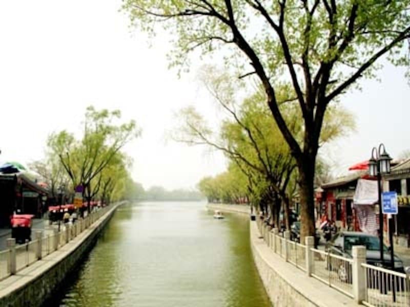 北京の春。人力車での胡同巡りで人気の后海