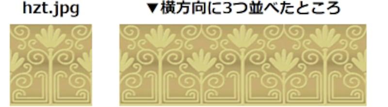 横方向に隙間なく並べる表示例に使う画像「hzt.jpg」