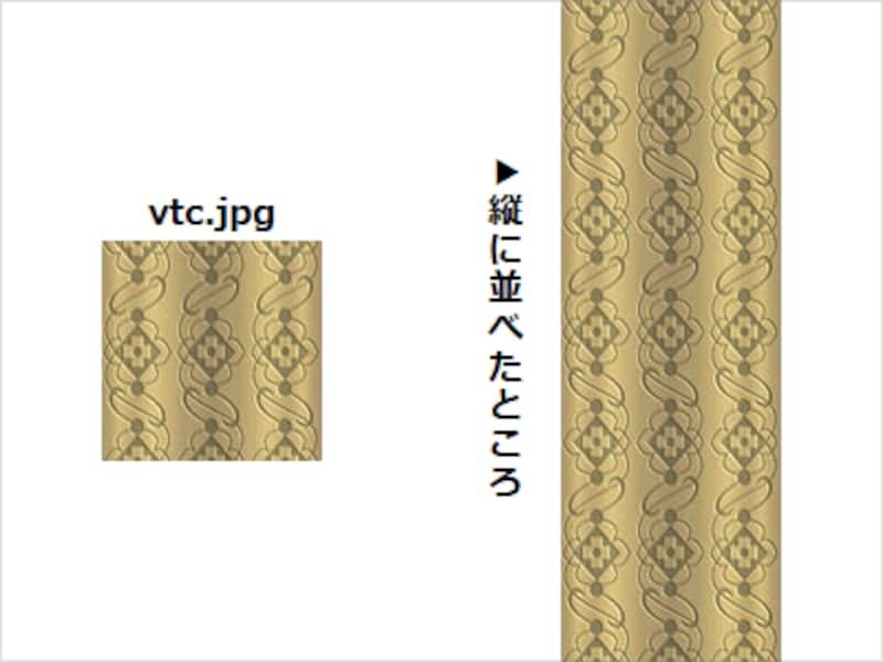 縦方向に隙間なく並べる表示例に使う画像「vtc.jpg」