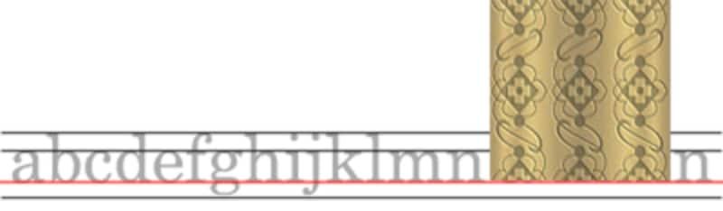 何も指定しなければ、インラインの画像は下端がベースラインに沿う位置に表示される