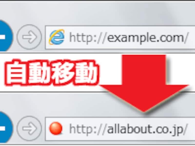 新URLへ自動移動