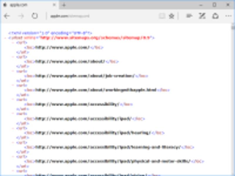 AppleのXMLサイトマップ