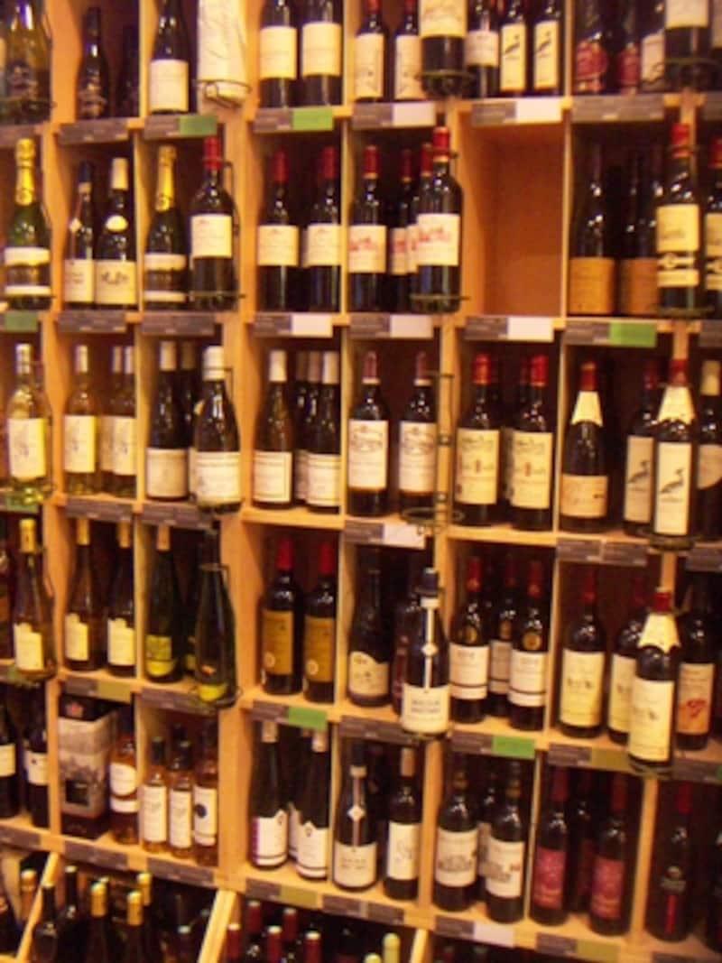 ビオ食品専門店エドニーのビオワインコーナー