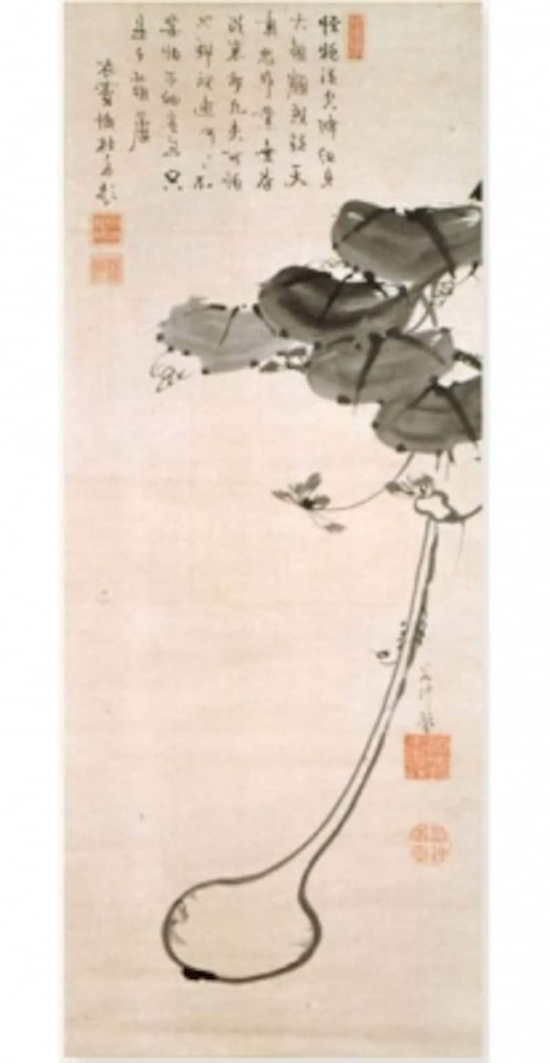 伊藤若冲undefined瓢箪牡丹図のうち瓢箪図undefined細見美術館蔵