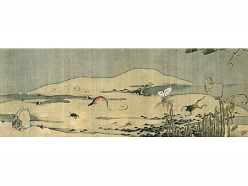 伊藤若冲undefined菜蟲譜(部分)