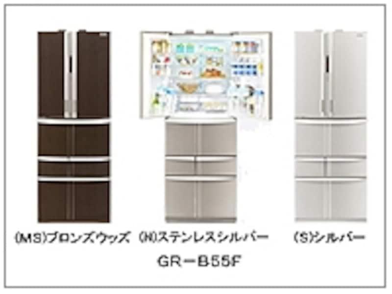 東芝「ピコイオン除菌 ウィルスハンター」搭載冷蔵庫「GR-B55F」