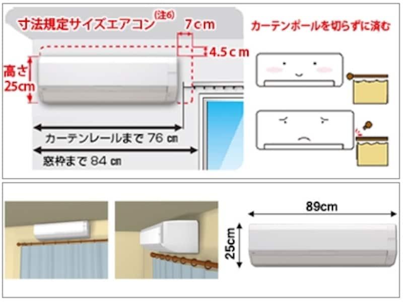 上:幅が小さい「Sシリーズ」/下:高さが低い「Zシリーズ」 カーテン周辺でも設置しやすいのがおすすめポイント