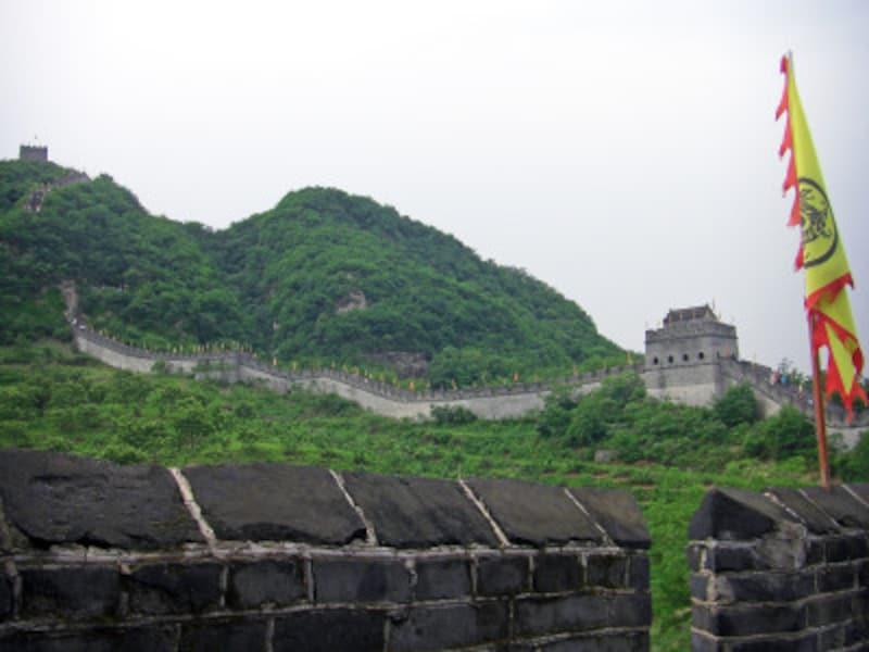 明代の長城の東端・虎山長城