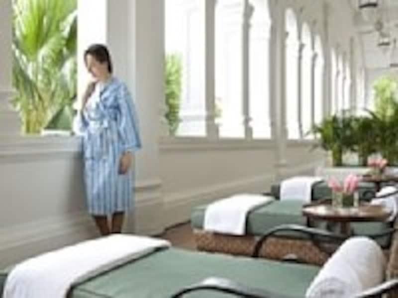 ラッフルズアムリタスパは、ホテルゲストオンリーのスペシャルなスパ