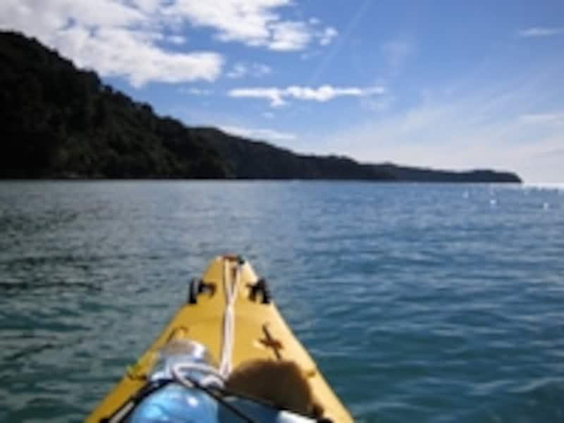 水面との距離が一番近いカヤック